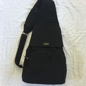Auth GUCCI Black Canvas Large Sling BACKPACK NWOT